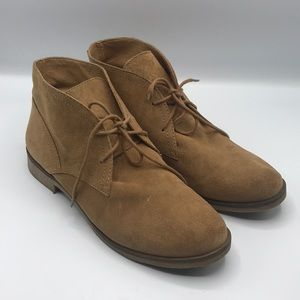 Lucky Brand Camel Brown Suede Booties 9M